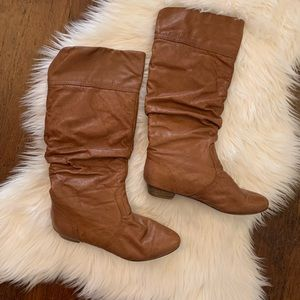 Steve Madden Candence Leather Upper Brown Boots